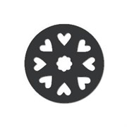 Акриловая форма Колесо с сердцами