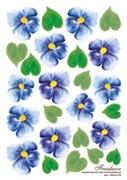 Термопленка Синие цветы