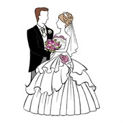 Штамп  Жених и невеста