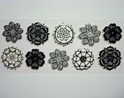 Наклейки  Цветы кружевные