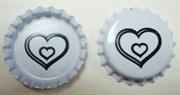 Пробка металлическая  Сердце   (Bottle Cap Inc)