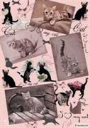 Скрап-карта  Любимый кот