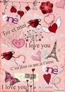Скрап-карта  Любовь
