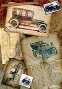 Скрап-карта  Ретроавтомобили 2