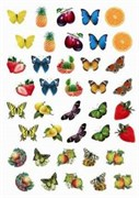 Пленка Freedecor для светлых поверхностей  Бабочки и фрукты