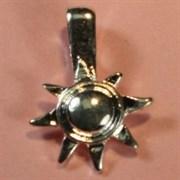 Держатель для приклеивания украшения Звезда серебряная