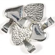 Держатель для приклеивания украшения Сердце серебряное