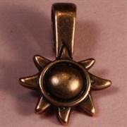 Держатель для приклеивания украшения Звезда бронзовая