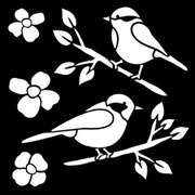 Трафарет маленький  Птицы