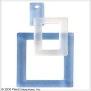 Набор стеклянных прямоугольников голубой
