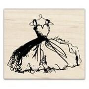 Штамп на деревянной основе Платье
