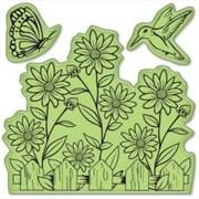 Набор резиновых штампов Садовая жизнь