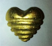 Пуговица. Сердце золотое маленькое