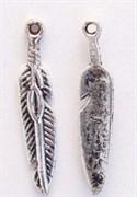 Подвески  Перья , тибетское серебро