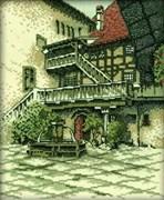 Набор для вышивания  Внутренний дворик замка