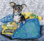 Набор для вышивания  Интерьерные собачки - Чихуахуа черный