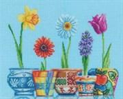 Набор для вышивания  Цветы в горшочках