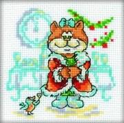 Набор для вышивания  Кошка с птичкой (НГ)