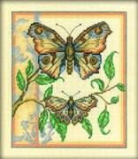 Набор для вышивания  Тандем бабочек