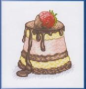 Набор для вышивания  Клубника в шоколаде