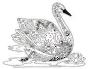 Штамп Лебедь, силиконовый ( Earth Art International )