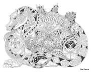 Штамп Дракон, силиконовый ( Earth Art International )