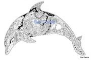 Штамп Дельфин, силиконовый  ( Earth Art International )