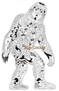 Штамп Снежный человек, резиновый  ( Earth Art International )