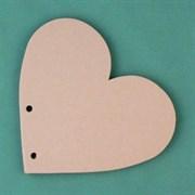 Заготовка для фотоальбома  Сердце малое  без колец