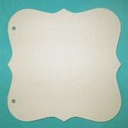 Заготовка для фотоальбома  Фигурный квадрат  средний без колец