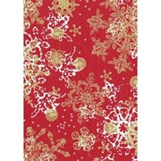 Бумага Decopatch снежинки на красном
