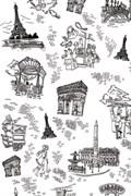 Бумага Decopatch Париж черно-белый