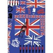 Бумага Decopatch Англия синяя
