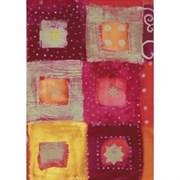 Бумага Decopatch квадраты/звезды красные