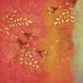 Бумага  Золотые цветы