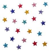 Набор мини пуговиц  Разноцветные звездочки