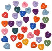 Набор пуговиц  Маленькие сердечки