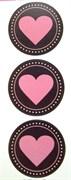 Наклейки  Любовь  Сердечки в кругах
