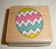 Штамп  Яйцо , резиновый на деревянной основе