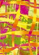 Бумага Decopatch желто-зеленая-маджента