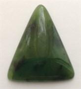 Кабошон Нефрит треугольник