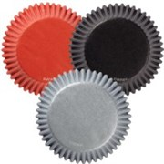 Набор бумажных форм для кексов Разноцветный металлик