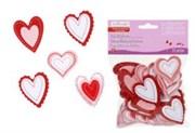 Набор сердечек фигурных из фетра