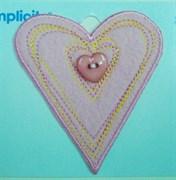 Термонаклейка  Сердце из фетра