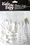 Набор листьев белых