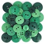 Набор пуговиц круглых  Green