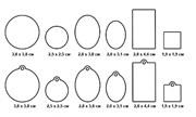 Акриловые формы для украшений Mod Podge основные