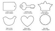 Акриловые формы для украшений Mod Podge фигурные