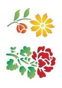 Трафарет на клейкой основе  Цветы