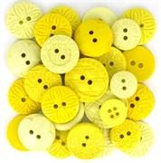 Набор пуговиц круглых  Yellow
